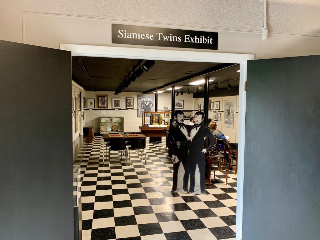Entrance to Siamese Twins Exhibit
