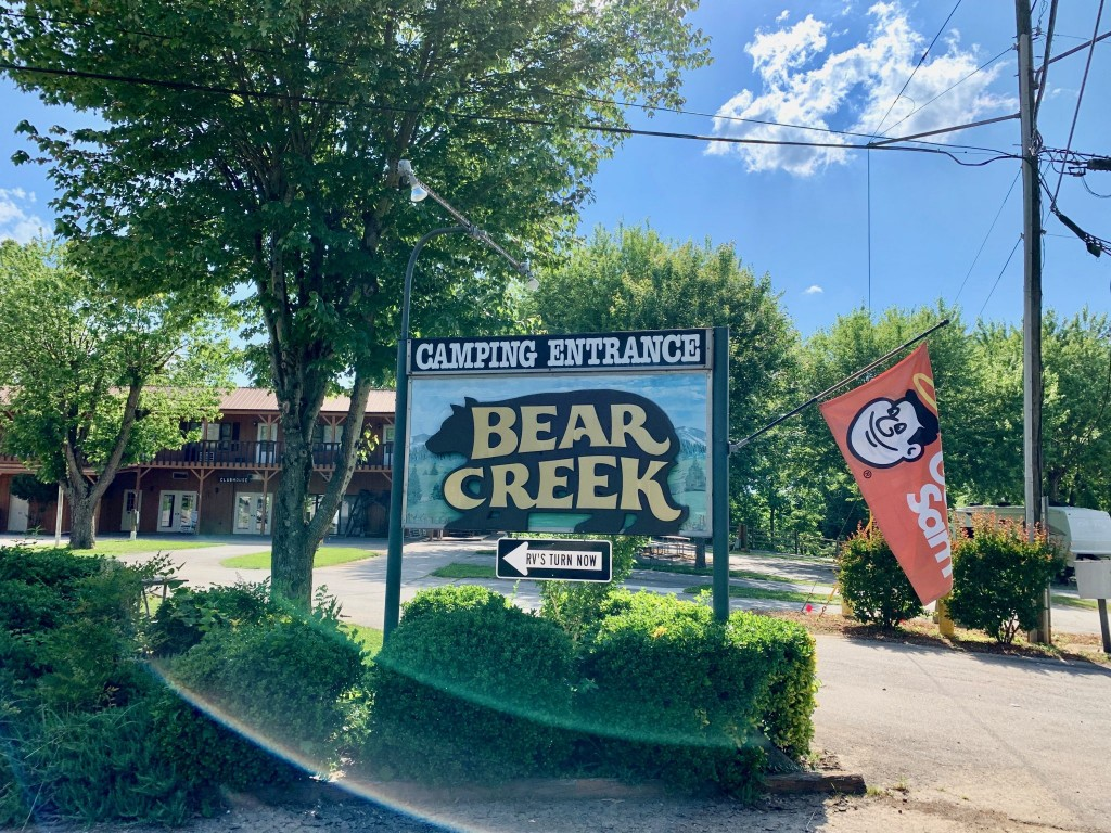bear creek campground entrance sign